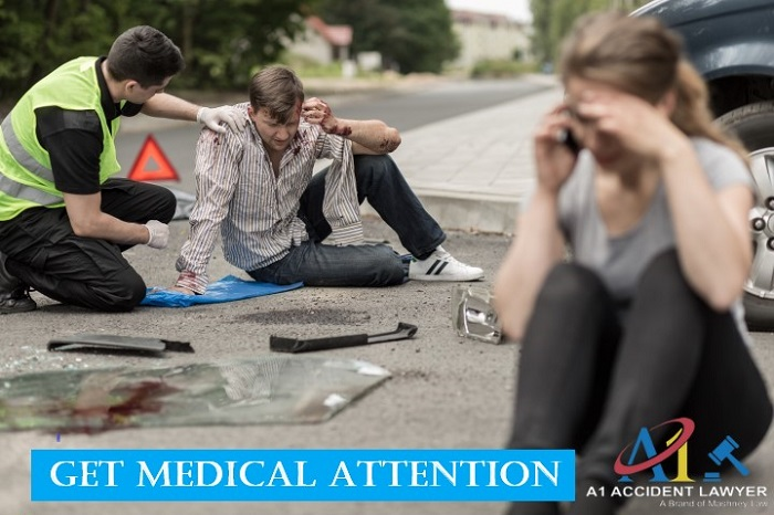 get medical attention truck accident in anaheim